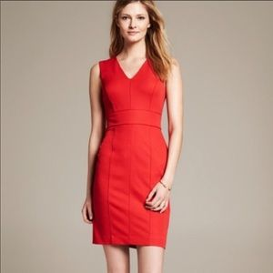 Banana Republic Sloan Dress Red New With Tags 0